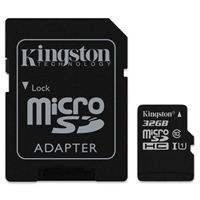 Kingston 32GB Canvas Select microSDHC Class 10/UHS-1 Flash Memory Card with Adapter