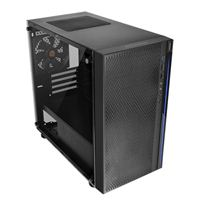 Thermaltake Versa H18 Tempered Glass microATX Mini-Tower Computer Case - Black