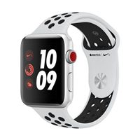 Apple Watch Series 3 Nike+ GPS+Cellular 42mm Silver Aluminum Smartwatch - Platinum/Black Sport Band