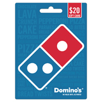 InComm $20 Domino's Gift Card