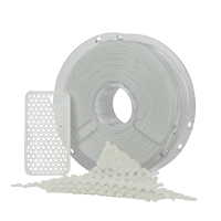 Polymaker PolyFlex 1.75mm White TPU 3D Printer Filament - 0.75kg Spool (1.6 lbs)