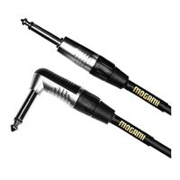"Mogami 1/4"" TS Male to 1/4"" TS Right Angle Male Instrument Cable 10 ft. - Black"
