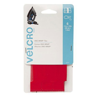 Velcro One-Wrap Ties 6 pack 11 in. x 0.5 in. - Red