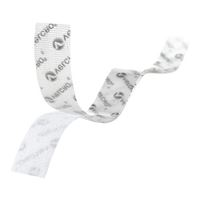 "Velcro Thin Fastener Strips 4 Pack 3.5"" x 0.75"" - Clear"