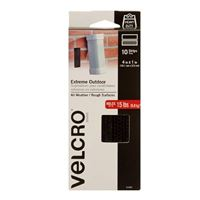 "Velcro Extreme Outdoor Strips 10 Pack 4"" x 1"" - Black"