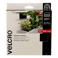 "Velcro Extreme Outdoor 3 Strips 6"" x 4"" - Black"