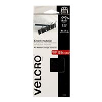 "Velcro Extreme Outdoor 1 Roll 4' x 1"" - Black"