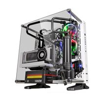 Thermaltake Core P3 Tempered Glass ATX Mid-Tower Computer Case - Snow