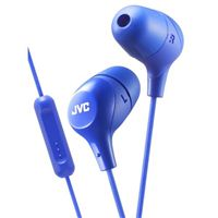 JVC Marshmallow Mic/Remote Inner Ear Headphones - Blue