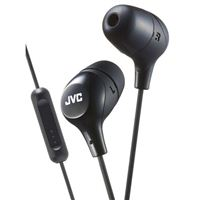 JVC Marshmallow Headphones with Mic and Remote - Black