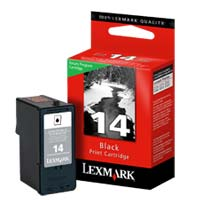 Lexmark 14 Black Return Program Ink Cartridge