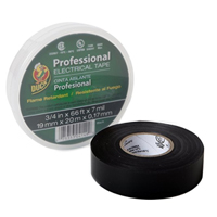 Shurtape Professional Electrical Tape w/ Canister .75 in. x 66 ft. - Black