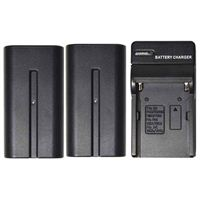 Savage 2-Pack of NP-F970 Lithium Ion Batteries w/ Charger