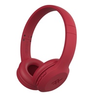 Zagg Audio - Toxix Wireless Over-The-Ear Wireless Headphones - Red