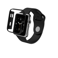 Zagg Luxe Bumper Case for Apple Watch Series 1 38mm - Black