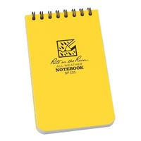 "Rite In The Rain Top Spiral 3"" X 5"" Waterproof Paper Notebook Yellow"