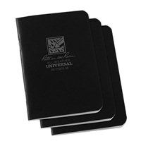 "Rite In The Rain Top Spiral 4"" x 6"" Waterproof Paper Notebook - Black"