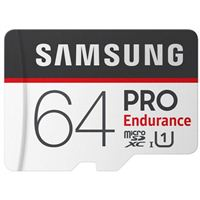 Samsung 64GB PRO Endurance microSDXC Class 10/ UHS-1 Flash Memory Card with Adapter