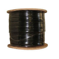 Inland CAT 5e Bulk Cable 1,000 ft. - Black