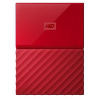 "WD My Passport 2TB USB 3.0 2.5"" Portable External Hard Drive - Red"