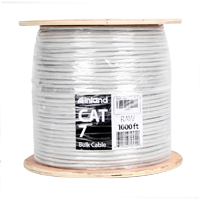 Inland Cat 7 Bulk Network Cable 1,000 ft. - Gray