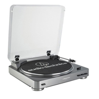 Audio-Technica Consumer AT-LP60 Fully Automatic Belt-Drive Turntable - Silver