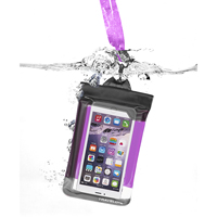 Travelon Waterproof Smart Phone/Digital Camera Pouch - Purple