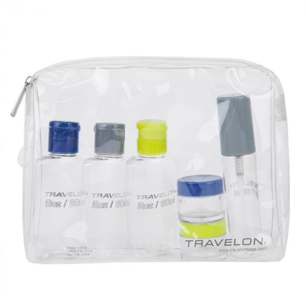 Travelon Zip-Top Bag with Bottles - 1 Quart