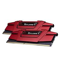 G.Skill Ripjaws V 16GB (2 x 8GB) DDR4-2666 PC4-21300 CL15 Dual Channel Desktop Memory Kit F4-2666C15D-16GVR - Red
