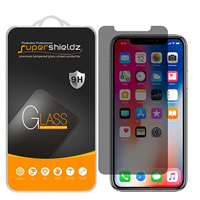 SuperShieldz Privacy Anti-Spy Screen Protector for iPhone X - 2 Pack