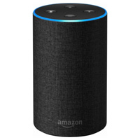 Amazon Echo Smart Speaker, 2nd Generation - Charcoal