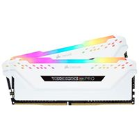 Corsair Vengeance RGB Pro 16GB (2 x 8GB) DDR4-3200 PC4-25600 CL16 Dual Channel Desktop Memory Kit 16GX4M2C320C16W - White