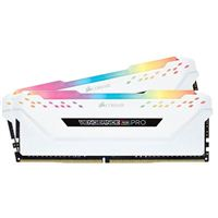 Corsair Vengeance RGB PRO 16GB 2 x 8GB DDR4-3000 PC4-24000 CL15 Dual Channel Desktop Memory Kit - White
