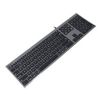 MacAlly Ultra Slim USB Wired Keyboard - Space Gray