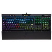 Corsair K70 RGB MK.2 Mechanical Gaming Keyboard - USB Passthrough & Media Controls - Linear & Quiet - Cherry MX Red - RGB LED Backlit