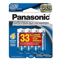 Panasonic Platinum Power AA Alkaline Battery - 8 Pack