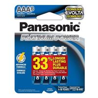 Panasonic Platinum Power AAA Alkaline Battery - 8 pack