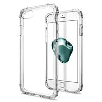 Spigen Crystal Shell iPhone 7 Case with Clear Back Panel and Reinforced Corners on TPU Bumper for Apple iPhone 7 (2016) - Clear Crystal