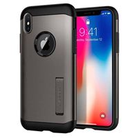 Spigen Slim Armor Case for iPhone X - Gunmetal