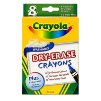Crayola Washable Dry Erase Crayons 8 Count