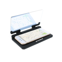 Xtreme Cables Heads Up Display Adhesive Dashboard Phone Mount w/ Qi Wireless Charging - Black