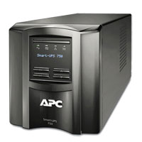 APC SMT750R Factory Recertified 750 VA 500W 6 Outlet UPS w/ LCD Display