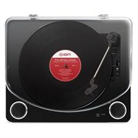 ION Audio Max LP Conversion Turntable With Stereo Speakers - Black