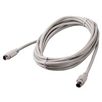 QVS PS/2 Male to PS/2 Male Keyboard / Mouse Cable 10 ft. - Gray