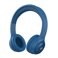 Zagg Audio - Toxix Wireless Over-The-Ear Wireless Headphones - Blue