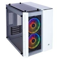 Corsair Crystal 280X RGB Tempered Glass mATX Mini-Tower Computer Case - White