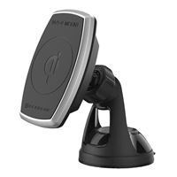 Scosche Industries MagicMount Pro Suction Magnetic Windshield/ Dashboard Phone Mount w/Qi Wireless Charging - Black