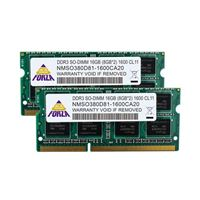 Neo Forza Neo Forza 16GB 2 x 8GB DDR3-1600 PC3-12800 CL11 Dual Channel SO-DIMM Memory Kit