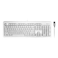 MacAlly Full Size USB Keyboard with 2 USB Ports - White