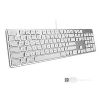 MacAlly Ultra Slim Mac USB Keyboard - Silver